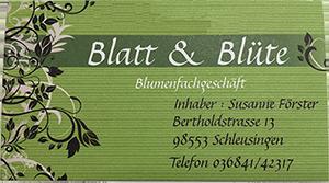 Blatt & Blüte Blumenhandel